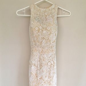 🦋🦋🦋Super Down Classic ivory lace party dress